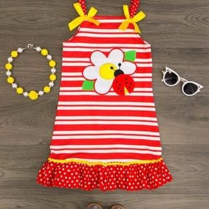 Other - Striped Ladybug Halter Dress